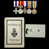 The scarce Great War Western Front Company Sergeant Major's Military Cross group awarded to Compa...