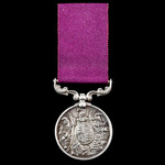 Army Long Service and Good Conduct Medal, Victoria issue, with small letter reverse with swivel s...
