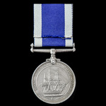 Royal Navy Long Service and Good Conduct Medal, GVI 2nd type bust, awarded to Corporal S.H.F. Har...