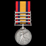 Queen's South Africa Medal 1899-1902, 4 Clasps: Orange Free State, Transvaal, South Africa 1901, ...