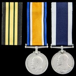 Benin 1897 Expedition Naval Brigade Casualty, Great War and Royal Navy long service pair awarded ...