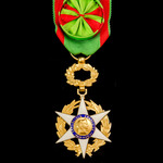 France: Order of Agricultural Merit, Officer Grade, silver-gilt and enamels.