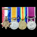 Great War 1914 Old Contemptible's long service group awarded to Sergeant S.E. Cocker, 1st later 2...