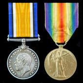 Great War South Downs Battalion Battle of the Somme casualty pair awarded to Private W. Faires, 1...