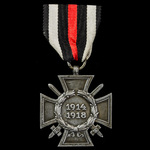 Germany - Imperial: Honour Cross 1914-1918 with Swords for Combatants, reverse maker marked 'G & ...