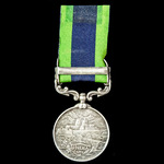 India General Service Medal 1908-1935, 1 Clasp: Afghanistan N.W.F. 1919, awarded to  Sikh, Sowar ...