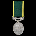 Efficiency Medal, GVI 1st type bust, Territorial Suspension awarded to Corporal R. Fletcher, 8th ...