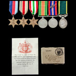 Second World War North Africa, Italy Mention in Despatches and Territorial long service group awa...