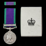 Campaign Service Medal 1962, 1 Clasp: South Arabia awarded to Corporal B.M.K. O'Sullivan, Royal E...