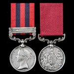 Burma Chin-Lushai 1889-1890 operations long service pair awarded to Colour Sergeant Francis Warr,...
