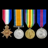 Great War Aden and India and Delhi Durbar 1911 group awarded to Corporal W. Vinall, 1st later 4th...