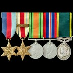Second World War North Africa 8th Army and Territorial long service group awarded to Trooper H.S....
