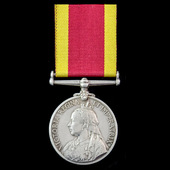 The interesting Aboukir 22nd September 1914 survivors China Medal 1900, no clasp, with slightly l...