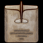 Sweden: Stockholm International Aviation Exhibition 1936 Commemorative Plaque, bronze, uniface, u...