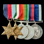 Second World War Italian Campaign / Adriatic operations and Royal Navy long service group awarded...