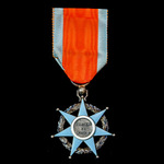 France: Order of Social Merit, Knight Grade, silver and enamels