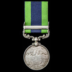 India General Service Medal 1908-1935, 1 Clasp: North West Frontier 1930-31, awarded to Private C...