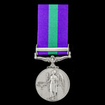 General Service Medal 1918-1962, EIIR, Dei.Grat bust, 1 Clasp: Malaya awarded to Private P. Gadsb...