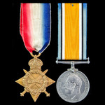 Great War 1914-1915 Star and British War Medal pair awarded to Lance Corporal J.H. Howell, Royal ...