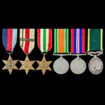 Second World War North Africa 1st Army and Italy and Territorial long service group awarded to Tr...