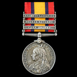 Boer War Relief of Ladysmith Colenso Casualty Queen's South Africa Medal 1899-1902, with ghost da...