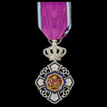 Belgium: Royal Order of the Lion, Knight Grade, silver and enamels. Rare.