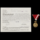 Germany – Third Reich. A Scarce Croatian Order of Zvonimir in Bronze along with its accompanying ...