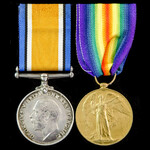 Great War Second Battle of Ypres Casualty pair awarded to Private T. McInnies, 1st Battalion,  Ar...