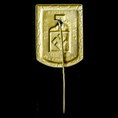 German – Third Reich: NSDAP Tinnie Badge Commemorating the German Worker's Day for 1st May 1933 h...