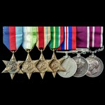 Second World War Atlantic, Mediterranean and Pacific Regular Army long service and Army Meritorio...