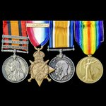 South Africa Boer War and Great War October 1914 Battle of Armentieres casualty group awarded to ...