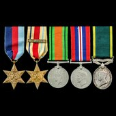 Second World War North Africa 1st Army and Territory long service group awarded to Bombardier E.B...