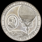 Sweden: Scandinavian Polar Expeditions Medal 1897, commemorating both the 1893 Arctic expedition ...