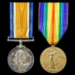 Great War pair awarded to Private R.R.S. Hughes, West Kent Yeomanry, who later saw service with t...