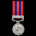 India General Service Medal 1854-1895, 1 Clasp: Burma 1885-7, awarded to Private David Hall, 2nd ...