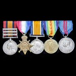 A fine South Africa Boer War, Great War 1914 Old Contemptible's and Delhi Durbar 1911 group award...