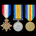 Great War 1914 Star Trio awarded to Private J. Garner, 1st later 2nd Battalion, Northamptonshire ...