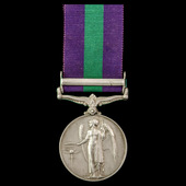General Service Medal 1918-1962, GVI, 1 Clasp: Palestine, awarded to Rifleman E. Dillon, Rifle Br...