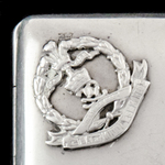 Middlesex Regiment 1915 Officer's Silver and enamel Presentation Cigarette Case. A gift to Stanle...