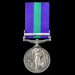 General Service Medal 1918-62, GVI, 2nd type bust, 1 Clasp: Malaya awarded to Private H.S. Cribbe...
