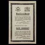 Wartime Propaganda Allied Expeditionary Force Safe Conduct Leaflet for German Soldiers who wished...