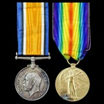 Great War pair awarded to Private A. Rowland, 2nd/7th Battalion, Manchester Regiment, Territorial...