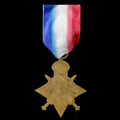 1914-1915 Star awarded to Private G.S. Ingram, East Surrey Regiment, later North Staffordshire Re...