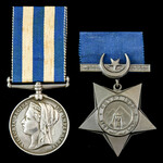 Egyptian War 1882 Casualty pair awarded to Private A. Johnson, 1st Battalion, Royal Sussex Regime...