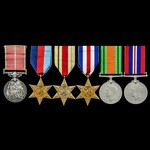 Second World War Siege of Malta Defence of Luqa Aerodrome 1942 British Empire Medal and North Wes...