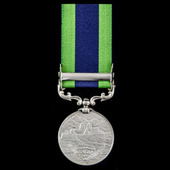 India General Service Medal 1908-1935, 1 Clasp: North West Frontier 1935 awarded to Bearer Maula ...
