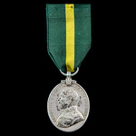 Territorial Force Efficiency Medal, GVR bust, awarded to Company Sergeant Major A. Escott, 5th Ba...