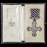 Distinguished Flying Cross, GVR cypher, complete with issued ribbon and wearing pin, and housed i...