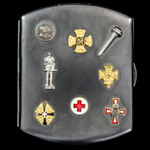 Germany / Austro-Hungary: First World War period Patriotic Steel Cigarette Case, the outer lid be...