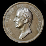 ​  Wellington bronze 'Vota Publica' bronze medallion by Webb circa 1820's, featuring a bust of We...